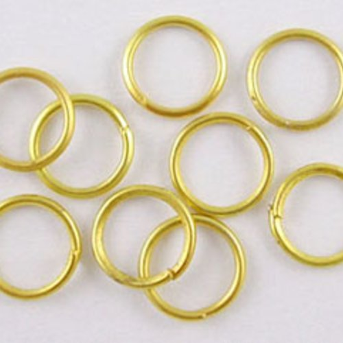 10 gr anneaux de jonction doré ouvert 7x0.7mm = une belle cuillere a soupe
