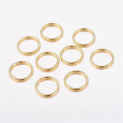 10 gr anneaux de jonction doré ouvert 10x1mm = une belle cuillere a soupe