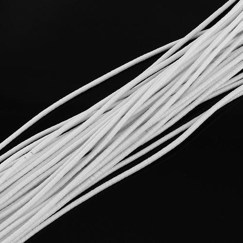 X 5 mètres cordon élastique rond souple diamètre 2,5 mm blanc