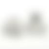 X 10 coupelles filigranées fleur argent mat  14mm x 14mm