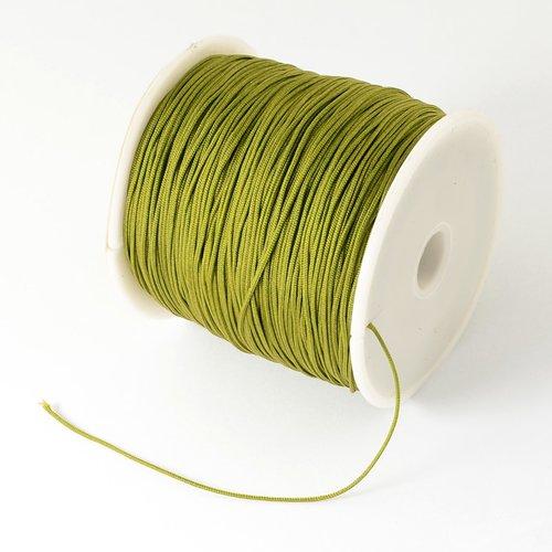3 mètres fil nylon vert olive 0.5 mm