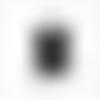 Cordon ciré polyester noir 1mm ( 5 mètres )