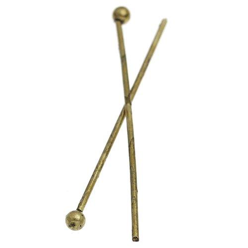Clou tige a tete boule métal bronze 30 x 0.7mm (30 pièces)