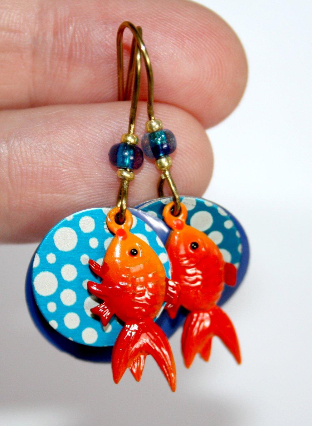 Boucles d'oreilles *Poisson rouge*