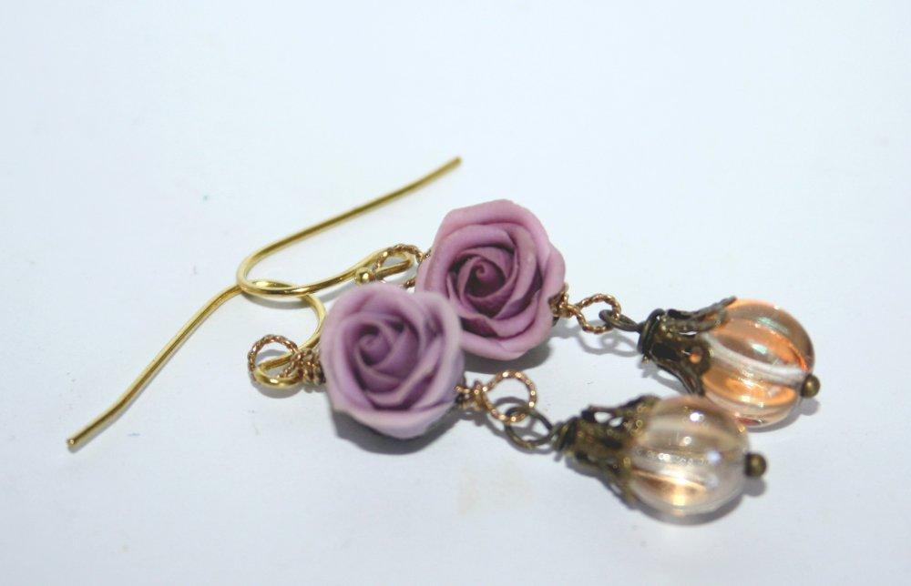 Boucles d'oreilles *Roses vintage*