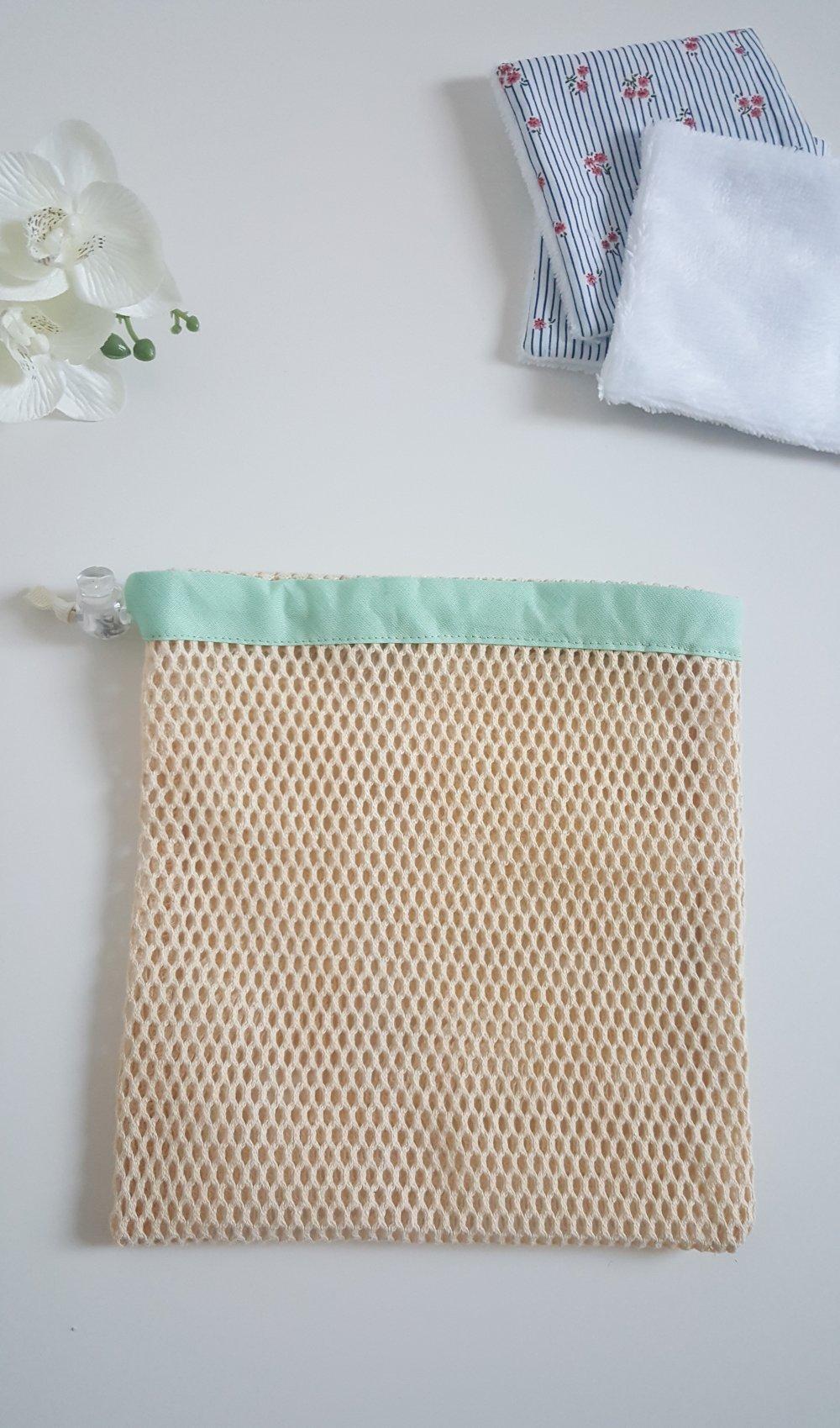 filet de lavage pour lingettes bandeau vert pâle