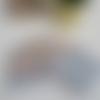 7 lingettes démaquillantes en liberty floriana et coton vichy moutarde
