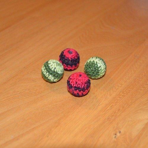 Lot 4 perles crochet