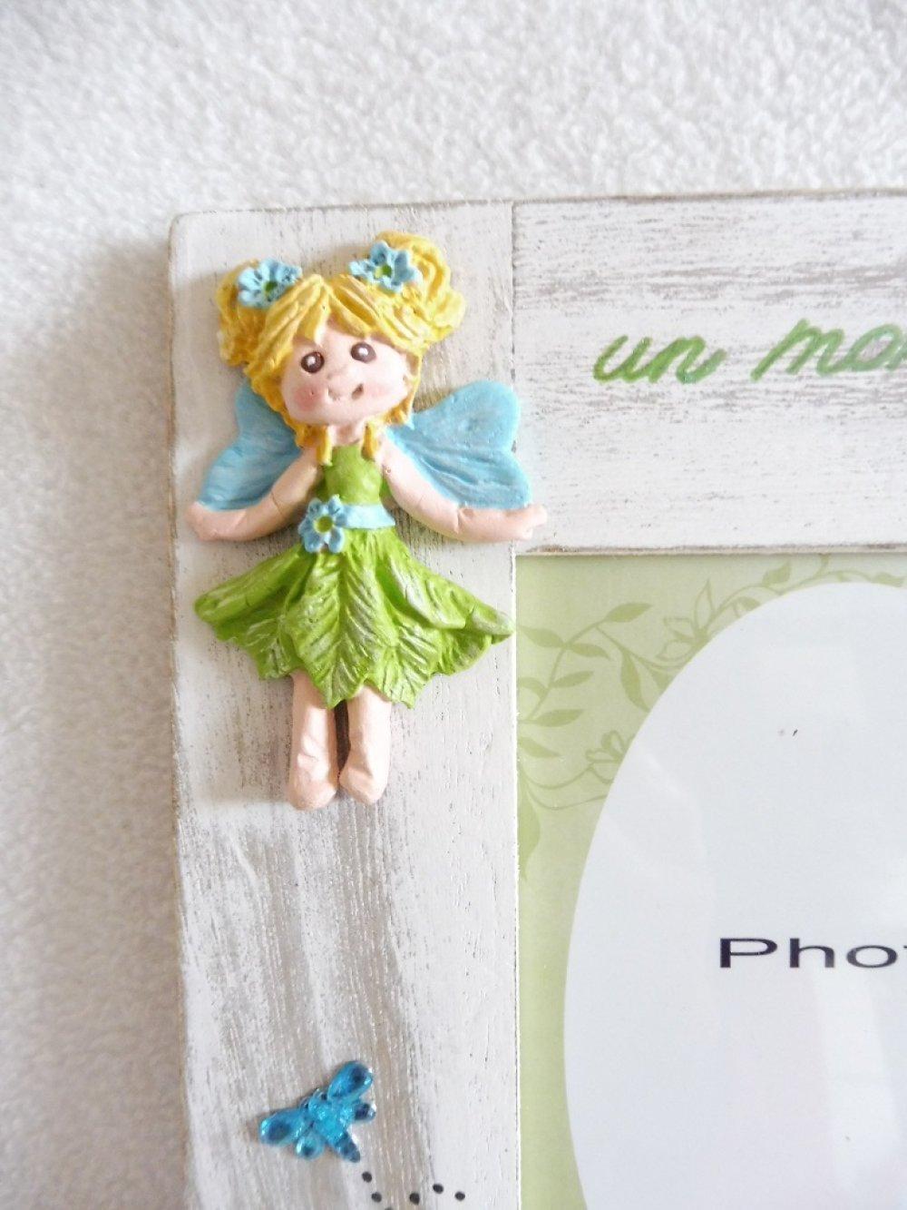 Cadre photo fée, féerique, cadre photo pour fille à personnaliser