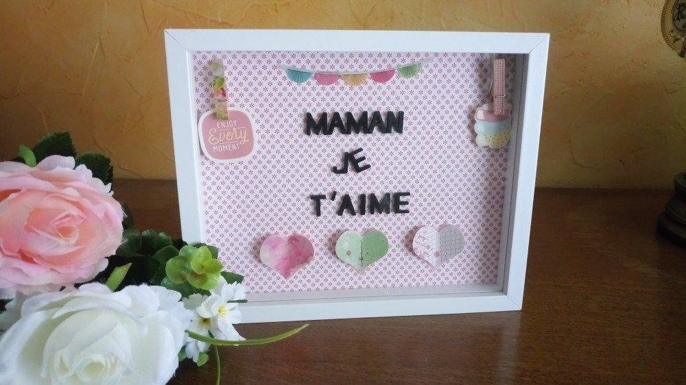 """Boîte/box fête des mères """"Maman je t'aime"""""""