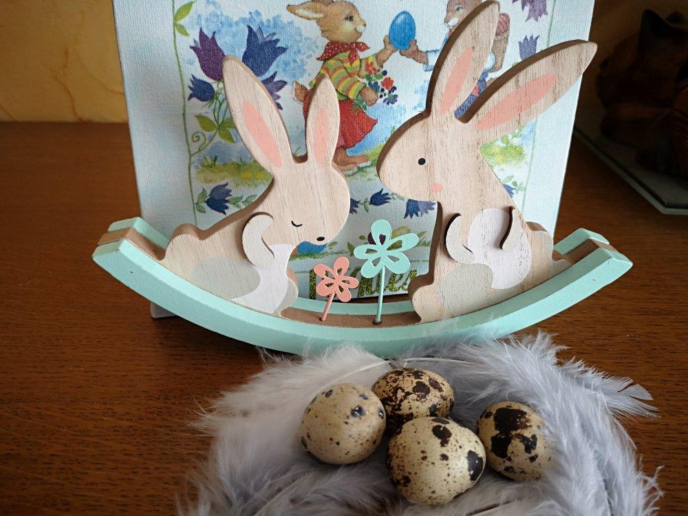 """Décoration de Pâques , """"lapins en fête"""" !"""