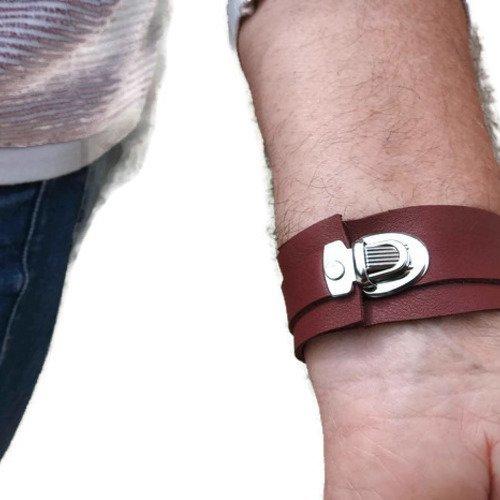 bracelet cuir celtique homme