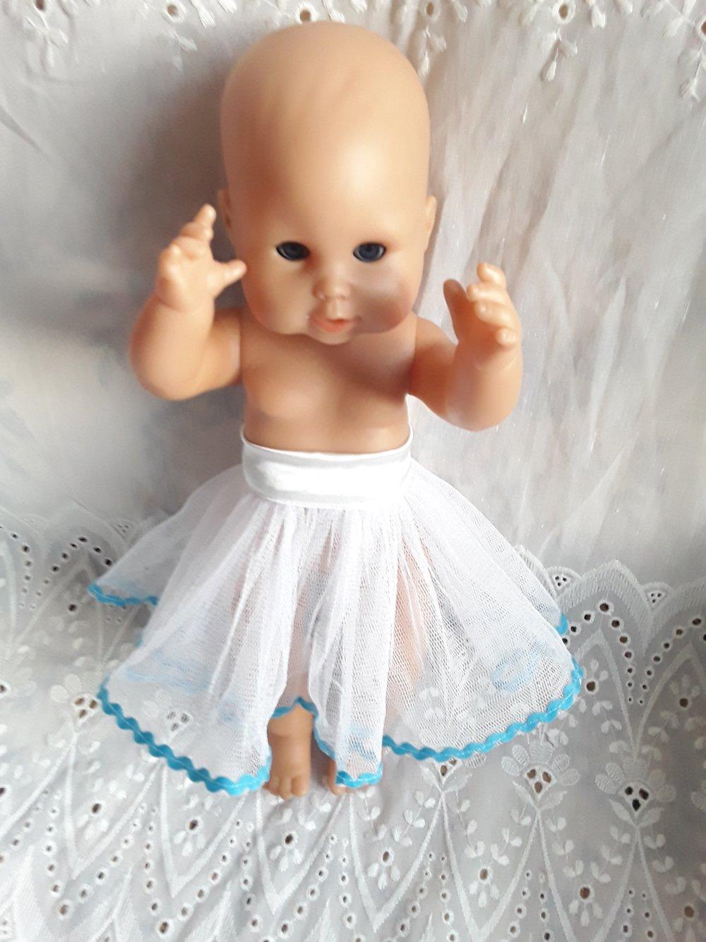 Habits de poupée, poupon corolle, compatible, Paul et Emma 36 cm, tutu,jupe