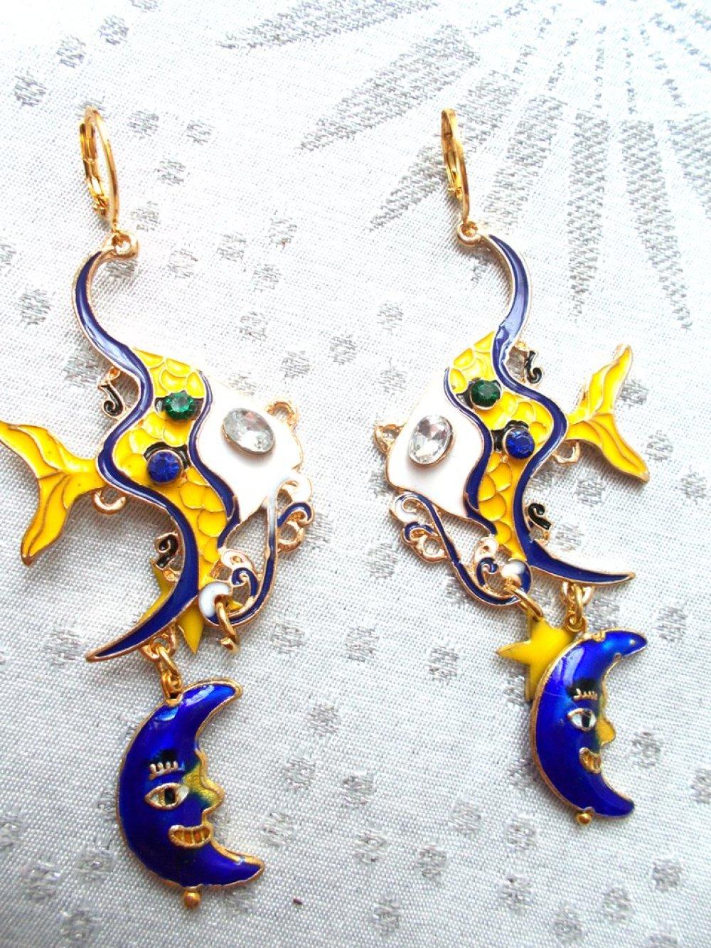 boucles d'oreilles fantaisies poissons