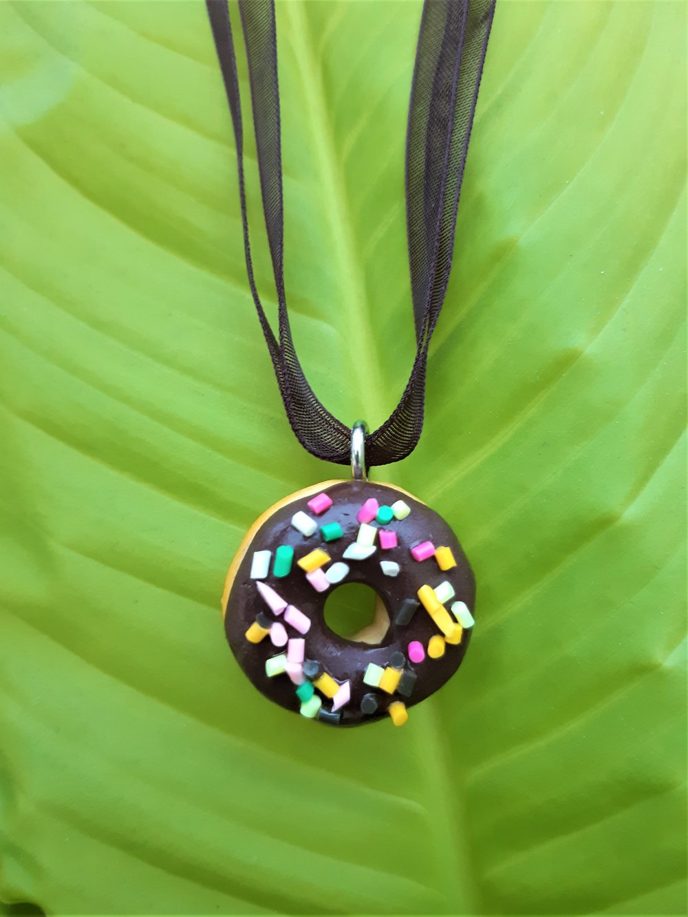 Collier Donuts au chocolat