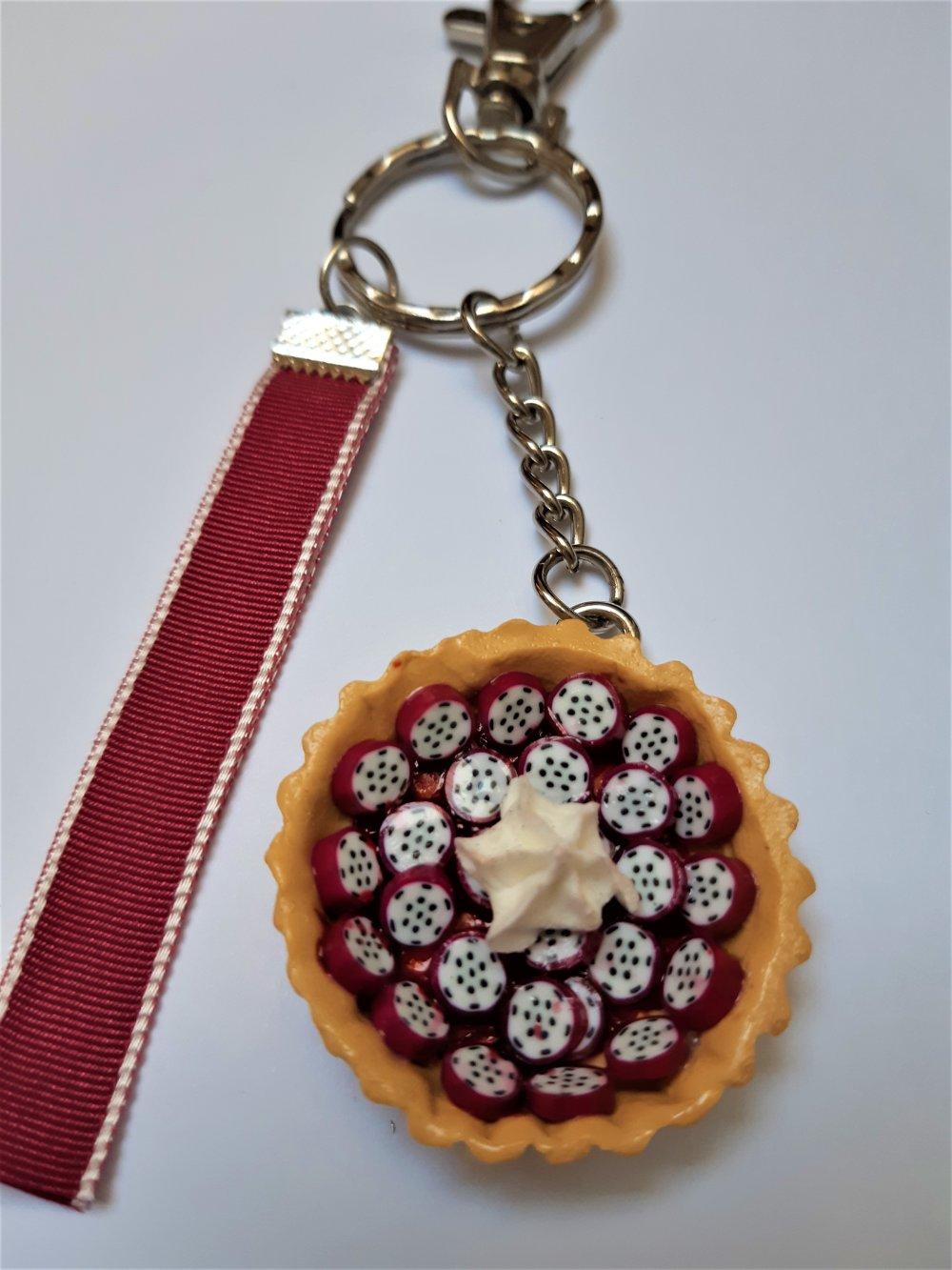 Bijou de sac / Porte-clés Tarte aux fruits du dragon