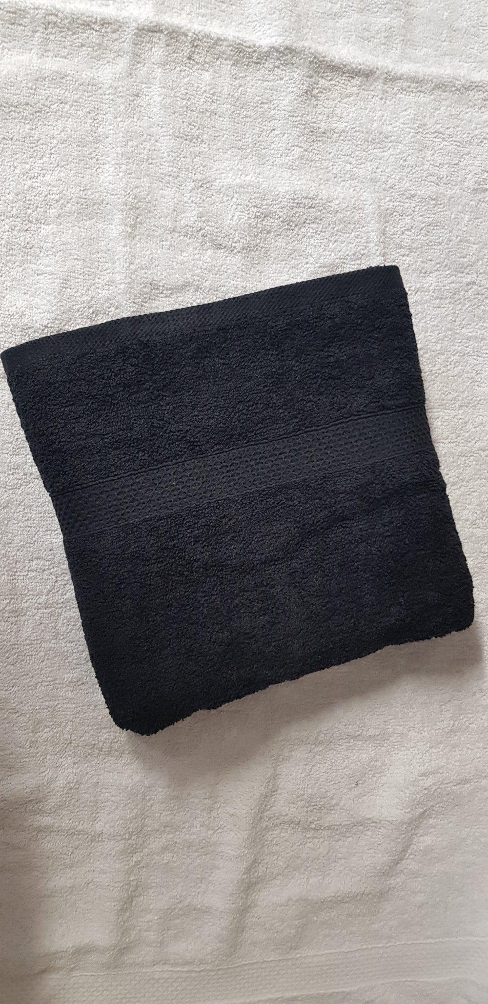 Petite serviette noir personnalisable