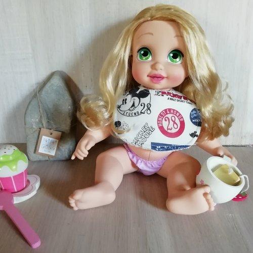 Bavoir en tissu pourpoupé/poupon/baigneur. jouet pour enfant.