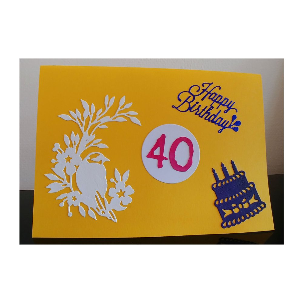 Carte Anniversaire 40 Ans Carte Anniversaire Un Grand Marche