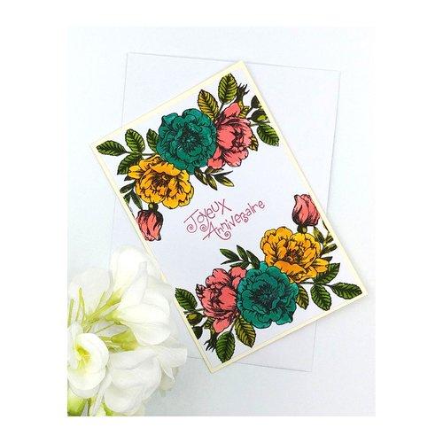 Jolie Carte Anniversaire Carte De Voeux De Fleurs Originale Double Unique Un Grand Marche