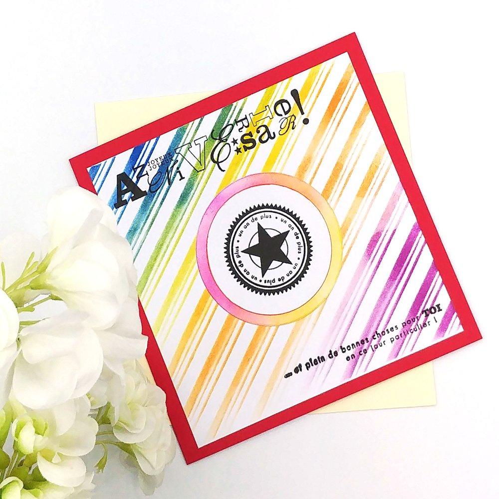 Carte Double Joyeux Anniversaire Avec Enveloppe Un Grand Marche