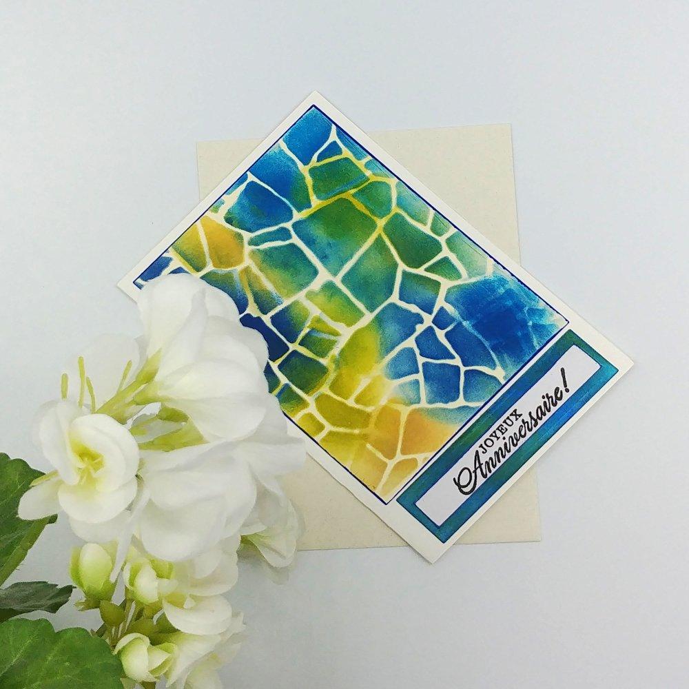 Carte de voeux artisanale