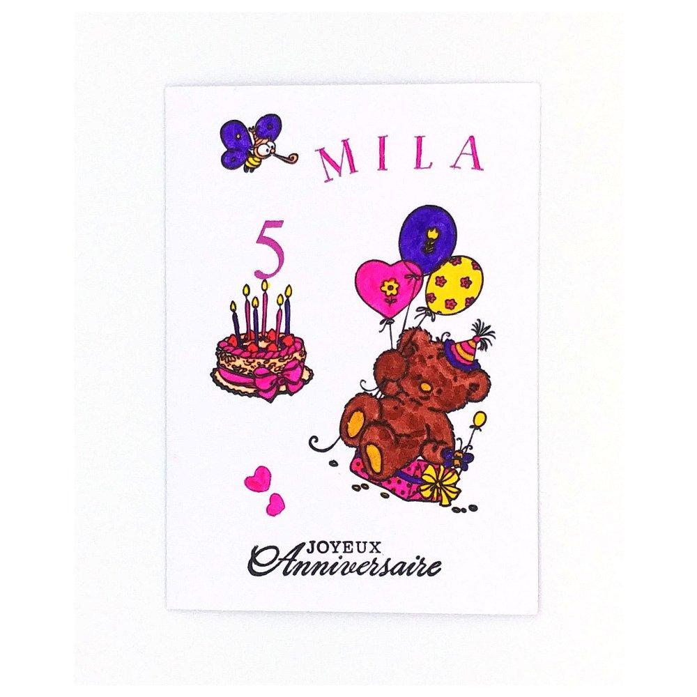 Carte Anniversaire Petite Fille Carte Petite Fille Un Grand Marche