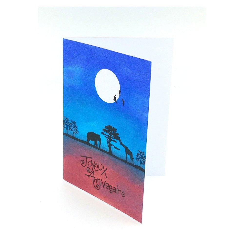 carte de voeux anniversaire, carte de voeux