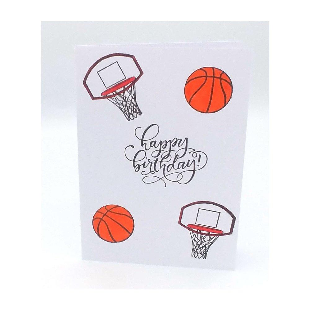 Carte basket, carte anniversaire basket