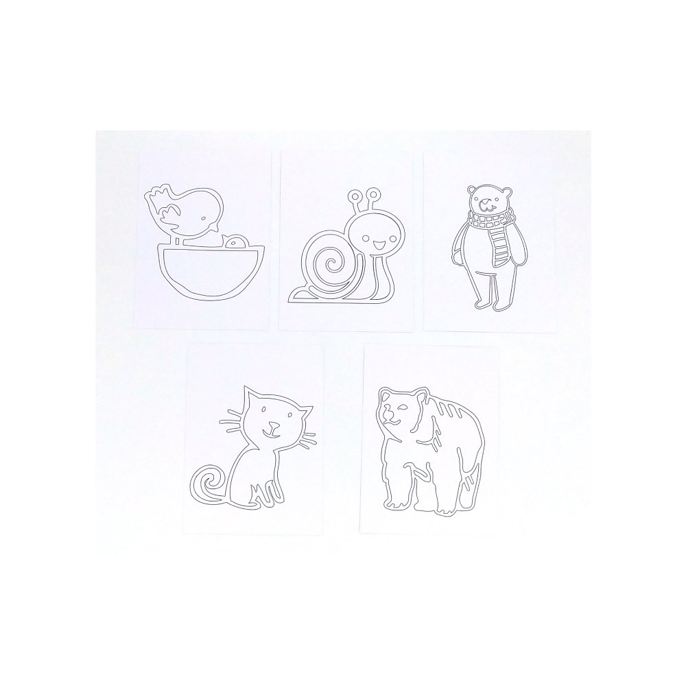 Cahier De Coloriage Pour Enfant Et Tout Petits 11 X 15 2 Cm Papier 250g 20 Images Animaux A Colorier Cahier De Dessin Animaux Un Grand Marche
