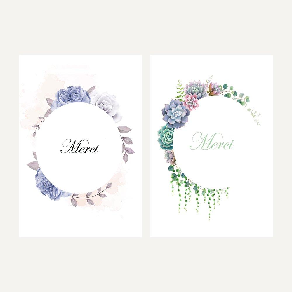 Carte Merci En Francais Carte Remerciement Mariage Anniversaire Bapteme Baby Shower Lot De 10 Cartes Un Grand Marche