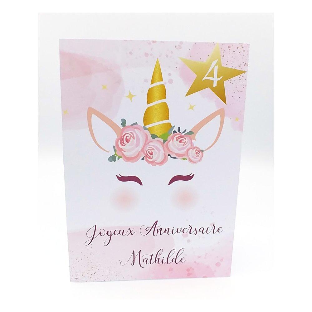Carte Anniversaire Fille Carte Anniversaire Licorne Carte Licorne Un Grand Marche