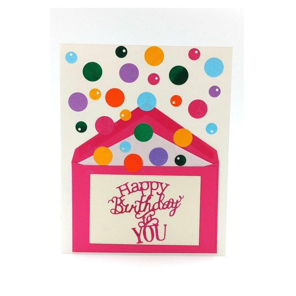 Carte Anniversaire Jet De Confettis Enfant Birthday Card For Kid Carte Anniversaire Lance Confettis Un Grand Marche