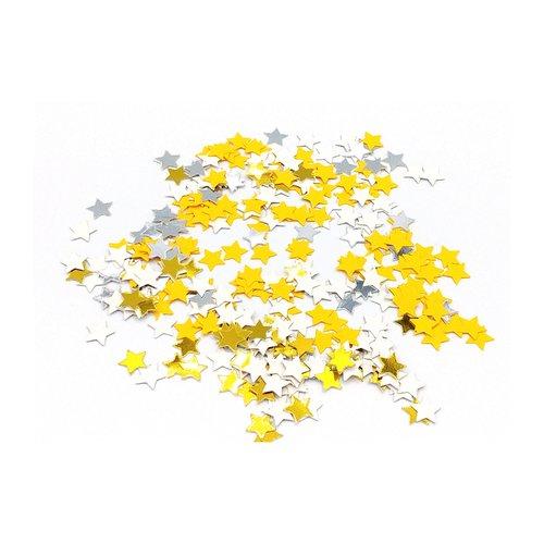 Confettis en forme d'étoile, confettis étoilés, scrapbooking, confettis anniversaire