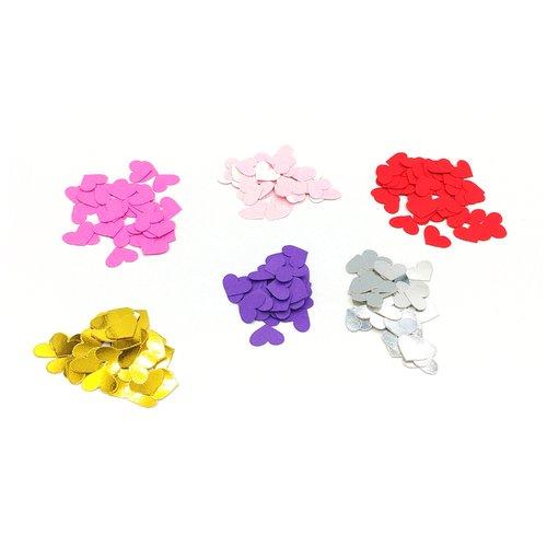 Confettis en forme de coeur, confettis coeur, confettis anniversaire, de fête, scrapbooking, mariage