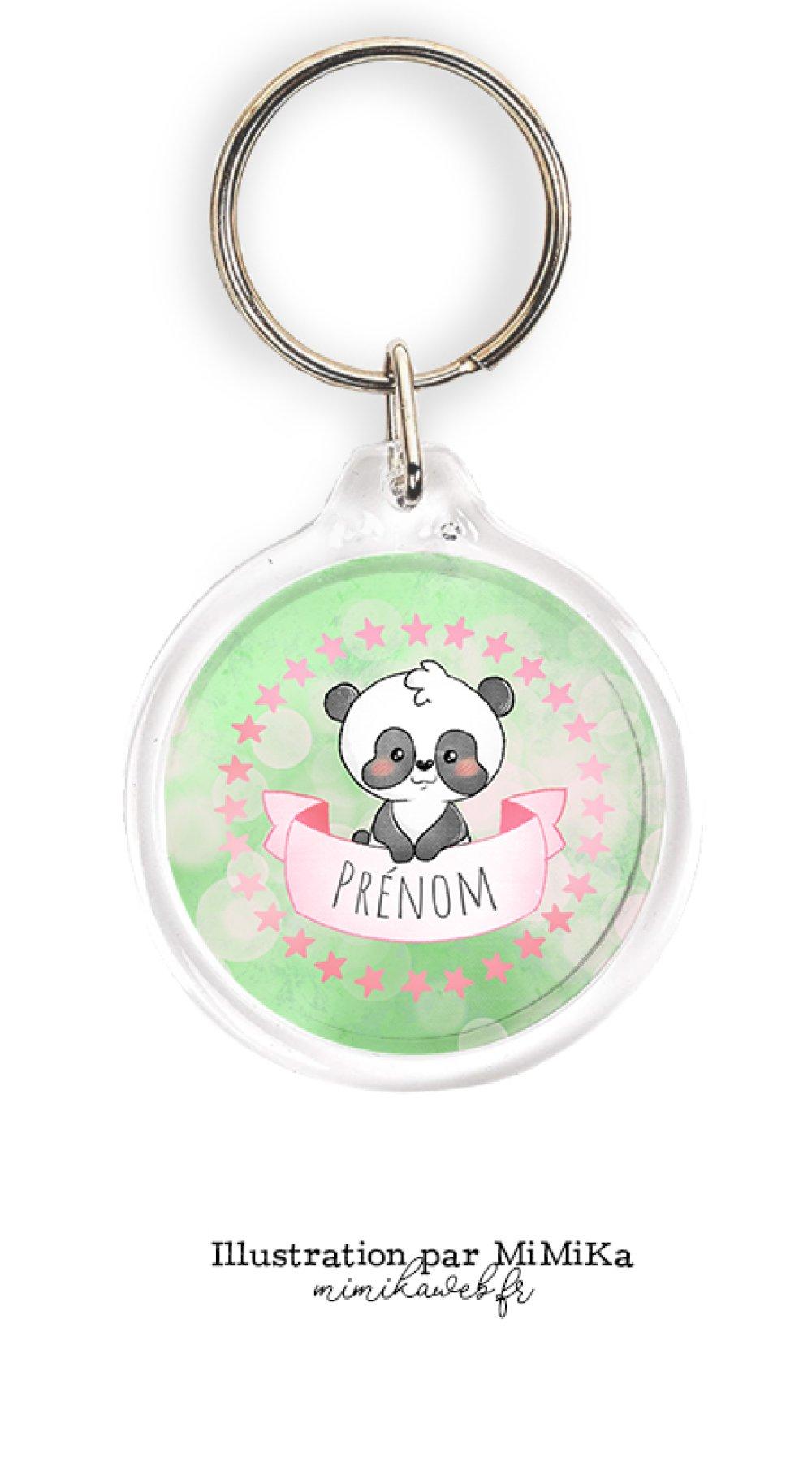 Porte clé personnalisé dessin Panda