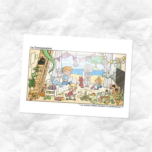 Carte dessin coronamaison
