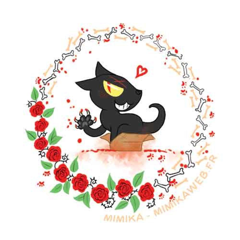 Sticker rond Psykocat