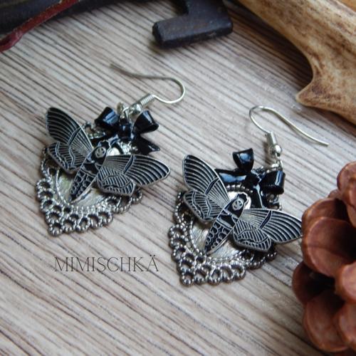 Boucles d'oreilles papillon sphynx
