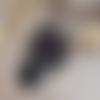 Collier papillon patine noire lune