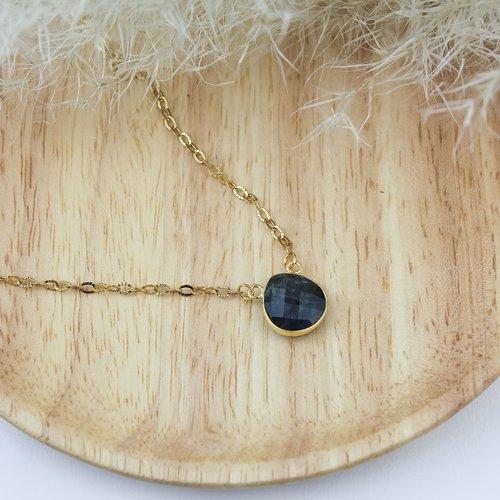Collier pierre naturelle labradorite