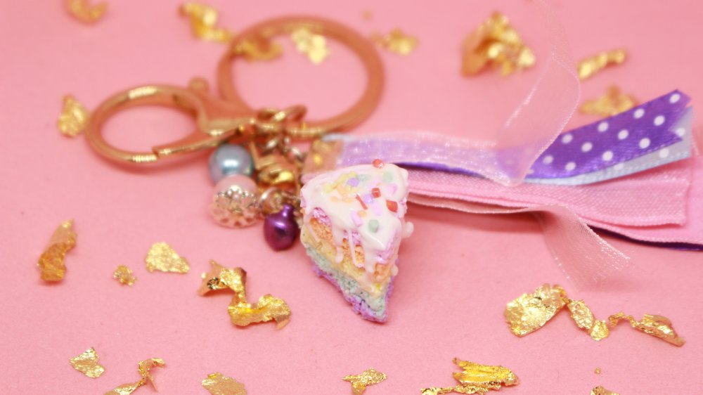 Porte clef/Mousqueton/Charm - Rainbow Cake Vermicelles