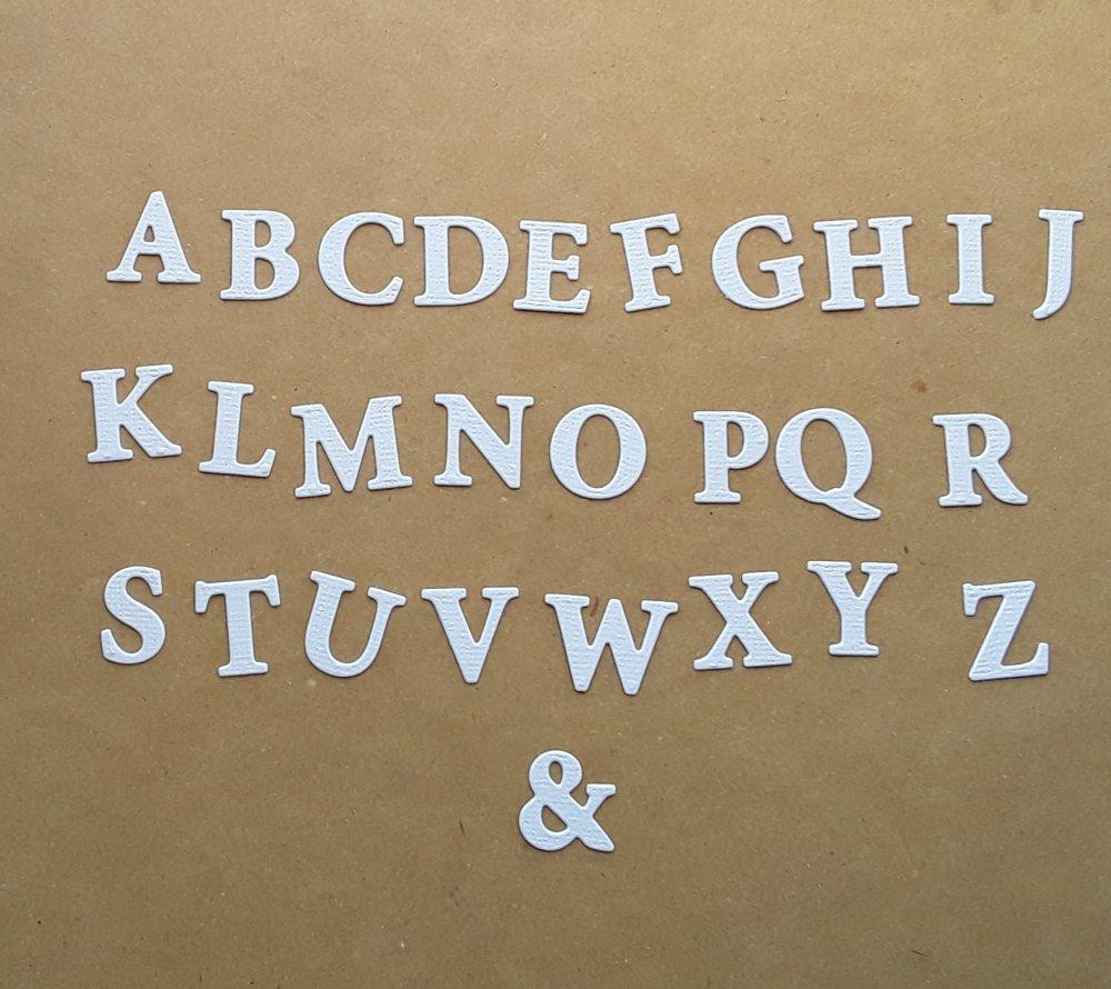 Découpe lettre majuscule alphabet en papier, lettre Q,  2,1 cm