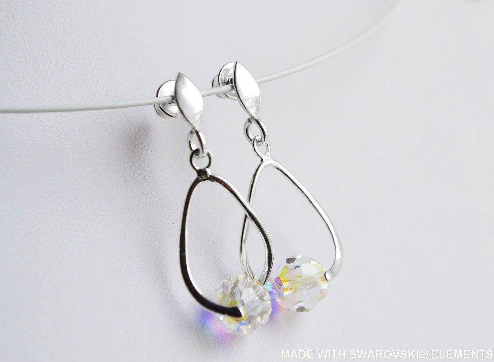 SWAROVSKI Boucles d'oreilles boule multicolore / argent 925