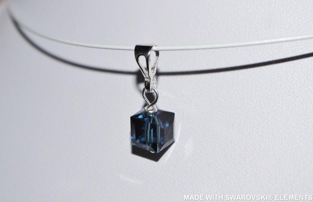 SWAROVSKI Pendentif cube / argent 925