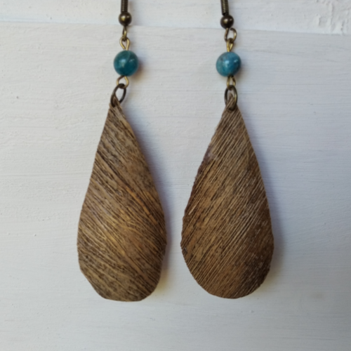 Boucles d'oreilles en fibre de coco