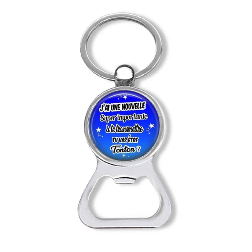 Porte clés tonton, décapsuleur futur tonton, cadeau homme