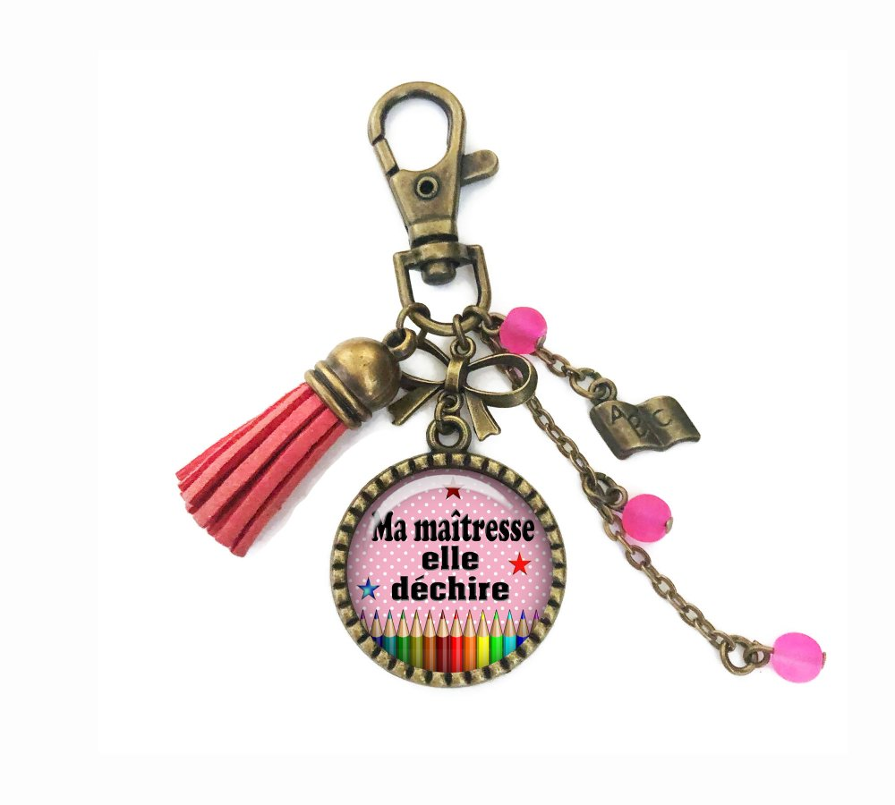 Porte clés maîtresse, bijou de sac ma maîtresse elle déchire