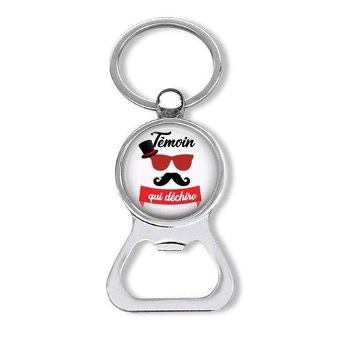Porte clés témoin, porte-clés décapsuleur témoin qui déchire