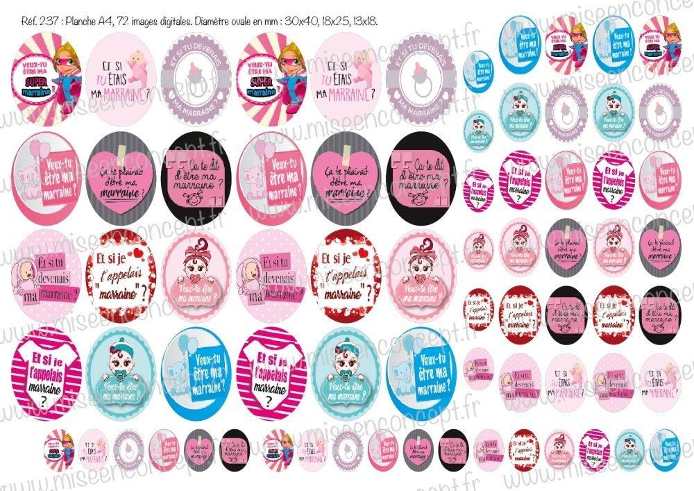 72 images digitales - Veux tu être ma marraine ? - ovale - images cabochons - bébé - naissance - parrain - filleule - maman - papa - bijoux - scrapbooking - porte-clés - magnet